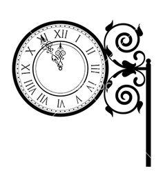 b01420dff Vintage street clock vector Clock Clipart, Clock Drawings, Clock Decor,  Watch Faces,
