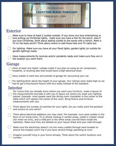 New Home Building Lighting Walk Through Checklist + Tips