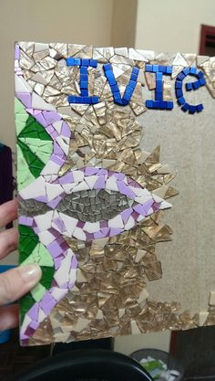 Another mosaic-ed book as a gift. Half way done