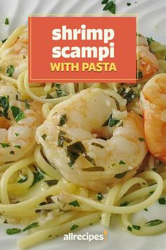 "Shrimp Scampi with Pasta | ""This dish was very easy and extremely tasty!!""  #pasta #pastarecipes #pastainspiration #pastadinner #pastaideas #pastadinner #pastaideas Seafood Boil Recipes, Shrimp Recipes, Pasta Recipes, Rice Recipes, Italian Recipes, New Recipes, Shrimp Scampi Pasta, Pasta Bar, Tortellini Recipes"
