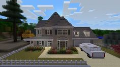 Epic Minecraft house done in the style of a treehouse. Description from pinteres...