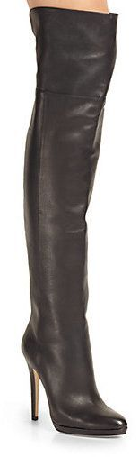 Jimmy Choo Giselle Leather Over-The-Knee Boots
