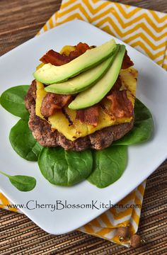 Pineapple, Bacon Avocado Burger | CherryBlossomKitchen.com