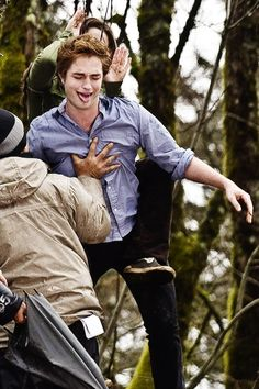 "-Robert Pattinson (Twilight commentary)  [Scene where Edward shows off his sparkly body]: ""I'm sorry, Bella. I'm just like a sweaty guy."" -Robert Pattinson(Twilight commentary)"