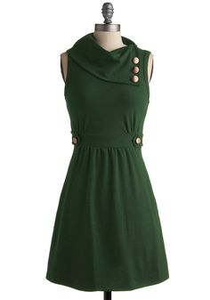 I'd love this with sleeves...and in another color...and maybe different buttons. Mostly I love that neckline and waist.  Guess I should make it....