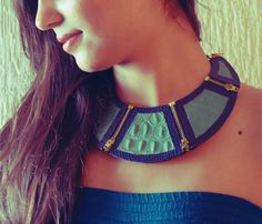 #leather collar #diy designed by Keta Shah for Art of Reuse