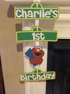 Sesame Street / Elmo birthday sign