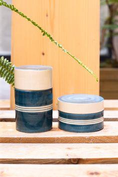 1960's Italian Maiolica - Italian Pottery - Italian Ceramic Jars - Signed Quadrifoglio Firenze - Midcentury Pottery - Handmade Ceramic Jars - #finofinds