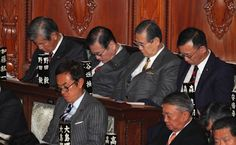 Opposition politicians in the policy speech