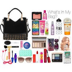 """""""What's In My Bag"""" by aboulwafawissal on Polyvore"""