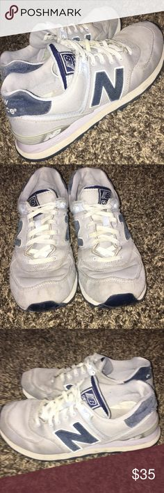 New Balance 574 - Grey/blue Minimal wear. Fit kind of small. New Balance Shoes Athletic Shoes