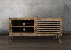 """Reclaimed Wood Media Console 56""""- Free Shipping"""