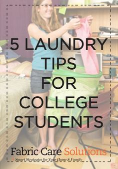 They've registered for courses, bought new books, and decorated their dorm rooms. But are they ready to do their own laundry?