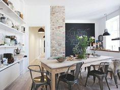 Deco cocina... A french apartment in Denmark