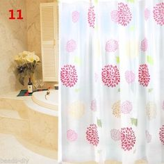 BD New Fireworks Design Bathroom Waterproof Shower Curtains Bathroom Draps
