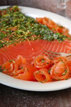 Ginigraavattu lohi / Salted salmon with gin