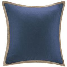 do not buy, Madison Park Feather Down Filled Linen with Jute Trim 20-Inch Square Pillow