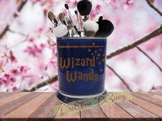 Wizard Wands, Harry Potter Makeup Brush Holder, Harry Potter Wizard Wands, Hogwarts Wizard Wands, Harry Potter, Glitter Makeup Brush Holder