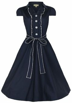 Amazon.com: Lindy Bop Women's Norma 1940's WW2 Landgirl Pinup Tea Dress: Clothing