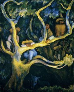 cavetocanvas: Nocturnal Landscape - Diego Rivera, 1947