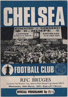 Vintage Football Programme - Chelsea v RFC Bruges, European Cup Winners' Cup, 1970/71 season, by DakotabooVintage, £3.99