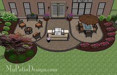 "Patio Design Ideas - Patio Designs & Ideas Plan # 1136rr Design Details 832 sq. ft. of Outdoor Living (OAL 24'-4"" x 41')."