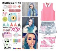 """""""Insta. Style 3"""" by kellinquinnsbae ❤ liked on Polyvore featuring GALA, Yoobi, Tony Moly, Polaroid, Bare Escentuals, PhunkeeTree, Korres, Beats by Dr. Dre, Rialto Jean Project and Converse"""