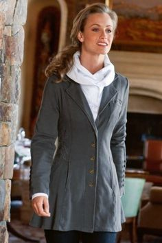56.05$ Watch now - http://vikjp.justgood.pw/vig/item.php?t=bfayrj3286 - Soft Surroundings S Gray Tallulah Jacket Embroidered Cotton Nicely Shaped $119 56.05$