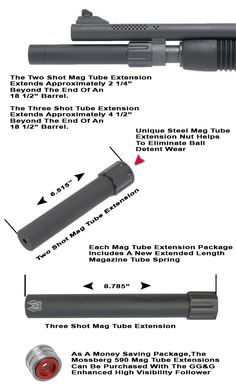 GG&G's Mossberg 590 Magazine Tube Extensions give you the tactical advantage with more rounds to get the job done. Both Mag Tube Extensions attach easily without weapon modification. Shotguns, Firearms, Home Defense Shotgun, Shots Magazine, Mossberg 500, Bar Stock, Combat Gear, Steel Bar, 2nd Amendment