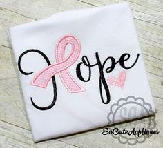Hope Awareness Ribbon Applique - 3 Sizes! | Featured Products | Machine Embroidery Designs | SWAKembroidery.com
