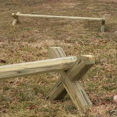 "Wood Cavaletti CUT ""X"" Only Horse Jumps - A Must Have Horse Training Aid"