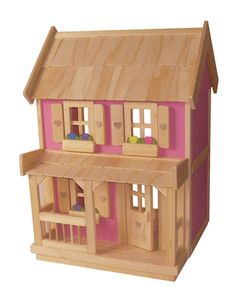 Wooden Doll House with 7piece Furniture by jacobswoodentoys, $289.00