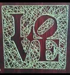 """""""Love"""" String Art"""