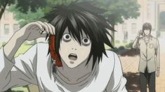Light Yagami's expression when L answers the phone is priceless. ~Death Note
