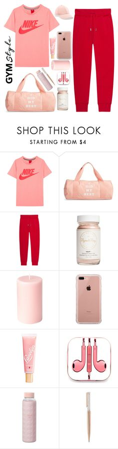 """Gym"" by ctofan ❤ liked on Polyvore featuring NIKE, ban.do, Dsquared2, Flynn&King, Belkin, Lano, PhunkeeTree, Ted Baker, Swarovski and Acne Studios"