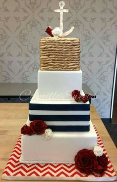 anchor wedding cake box delicious desserts seaside wedding wedding and photography 10749