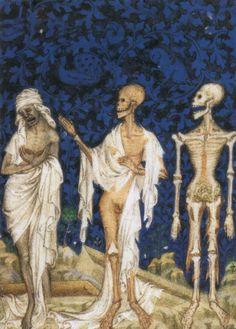 Psalter of Bonne de Luxembourg 'Three Living and Three Dead' Jean Le Noir, Paris c.1348-49