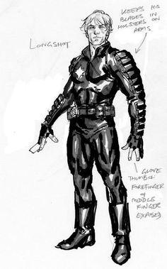 Longshot by David Yardin [ X-Factor ] Man Character, Marvel Comic Character, Character Modeling, Character Concept, Comic Book Artists, Comic Books Art, Comic Art, Kickass Comic, Marvel Comics