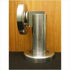Heavy Duty Magnetic Door Stop; Satin Chrome, Wall Or Floor Mounted On EBid  United