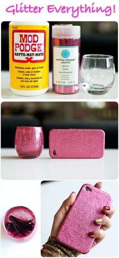 How to glitter everything | Fashion, crafts and moreFashion, crafts and more