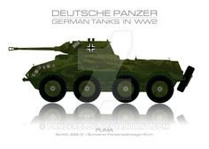 Sd. Kfz. 234/2 - German tank - Panzer by panzerblog.deviantart.com on @DeviantArt