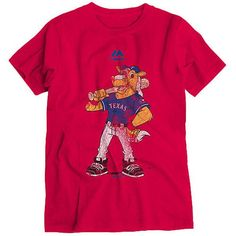 Texas Rangers Majestic Youth Vintage Mascot T-Shirt - Red - $21.99