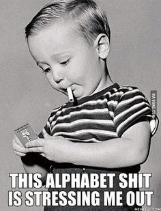 Start em young.  This is wrong but I can't stop laughing. I must be exhausted.