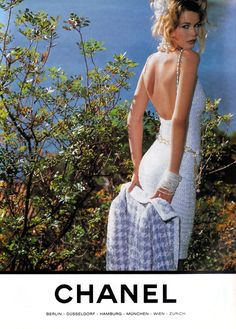 Early 90's Chanel ad with Claudia Schiffer