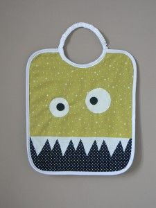 Bavoir monstre Efficace si biais blanc idem dents. Possible aussi avec sourire banane