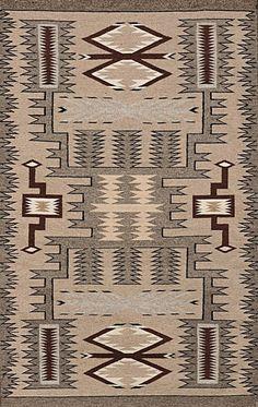 Navajo Rug Storm Pattern Rug Native American Rug By CulturalPatina