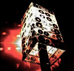 Lampshade made from old cassette tapes!