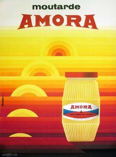 Galerie Montmartre - Amora Moutarde by Auriac Vintage French Posters, Pub Vintage, Vintage Advertising Posters, Vintage Ephemera, Vintage Advertisements, French Vintage, Vintage Food, Poster Ads, Poster Prints