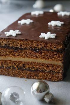 Polish Desserts, Polish Recipes, Chocolate Torte, Chocolate Desserts, Holiday Desserts, No Bake Desserts, Biscuits, Different Cakes, Savoury Cake