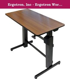 "Ergotron, Inc - Ergotron Workfit-D, Sit-Stand Desk (Walnut Surface) - Rectangle - 47.6"" X 23.5"" X 50.6"" - Steel, Metal, Wood Grain - Black, Walnut Top ""Product Category: Furniture/Tables & Desks"". Ergotron WorkFit-D, Sit-Stand Desk (Walnut Surface) - Rectangle - 47.6"" x 23.5"" x 50.6"" - Steel, Metal, Wood Grain - Black, Walnut Top - Ergotron WorkFit-D, Sit-Stand Desk (Walnut Surface) - Ergotron WorkFit-D, Sit-Stand Desk (Walnut Surface) - Rectangle - 47.6"" x 23.5"" x 50.6"" - Steel, Metal…"